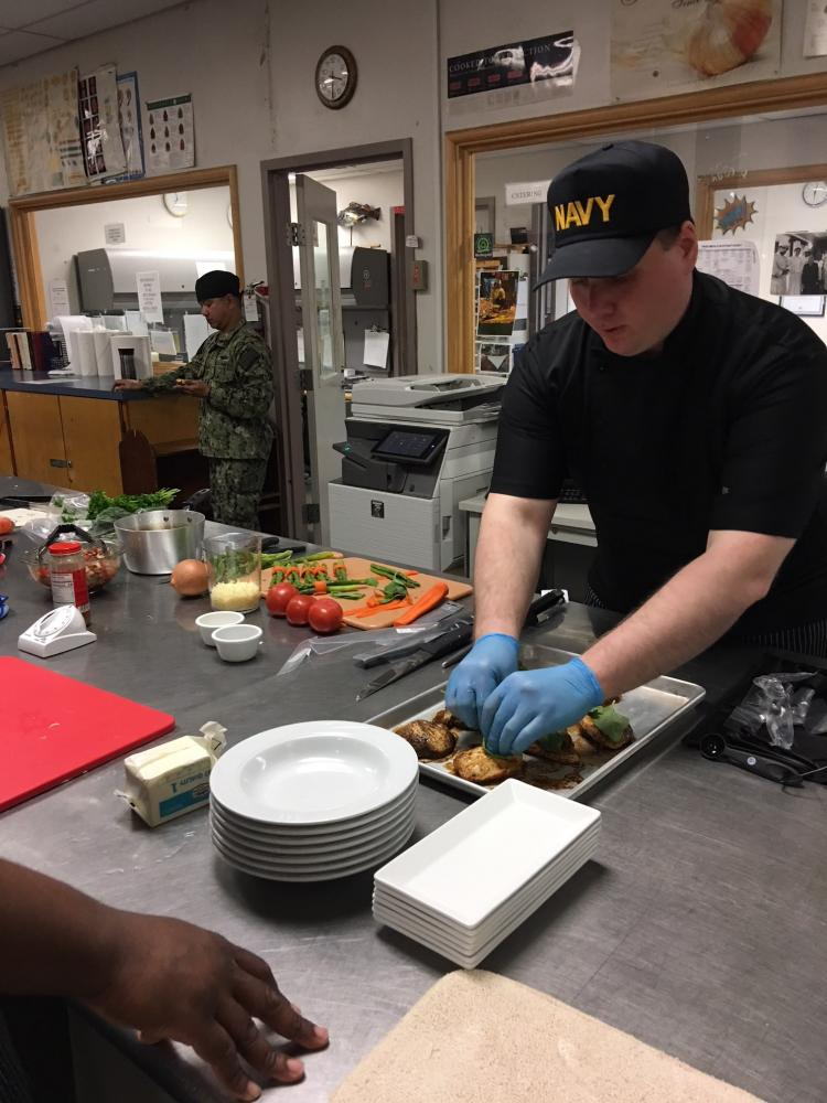 Navy Chef in competition