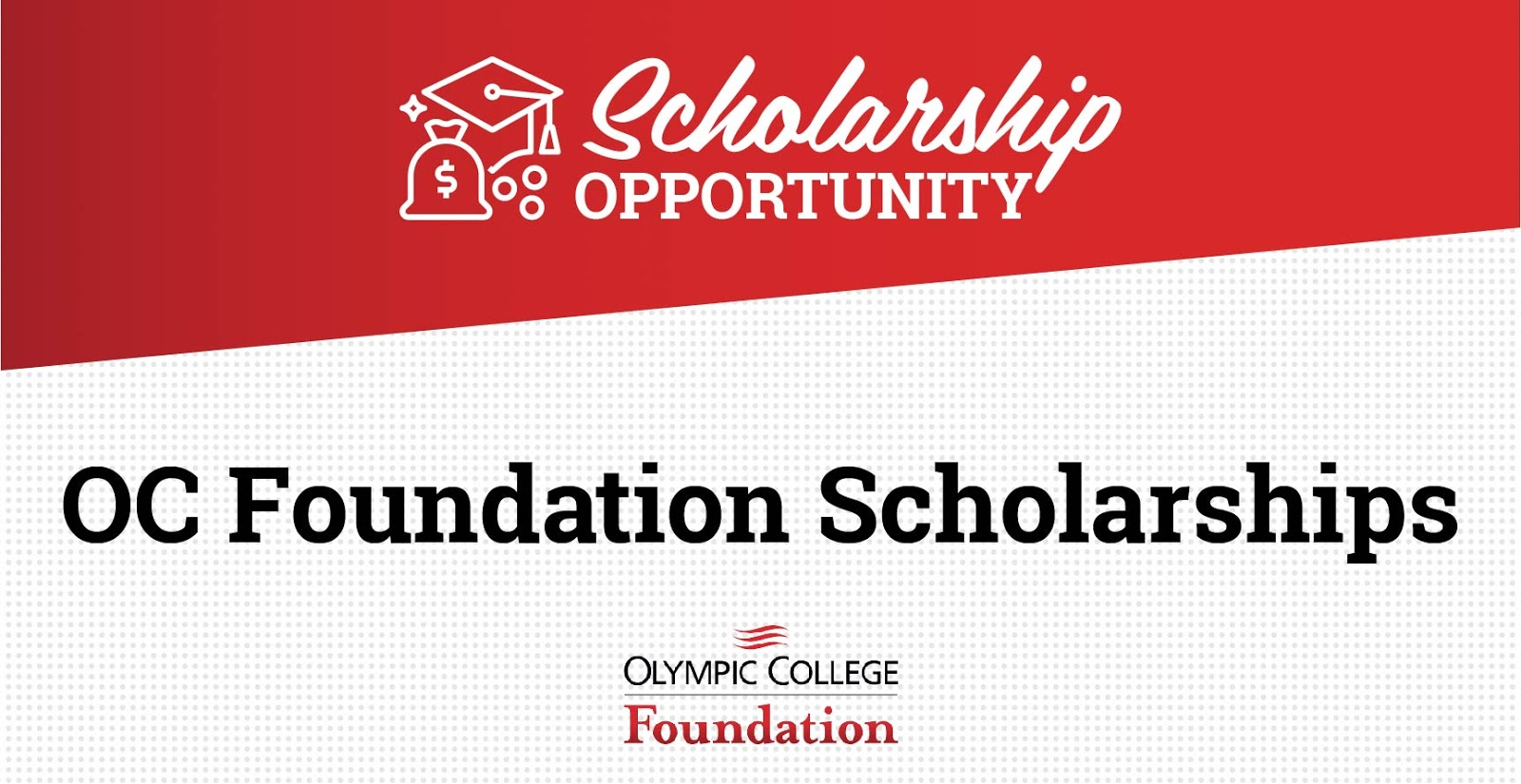 Flyer for Olympic college scholarships