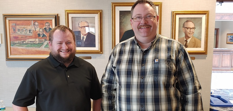 Ian Canter, left, and Eric Kneebone at the Compuclean Seminar hosted by Spartan Chemical in Maumee Ohio on March 5
