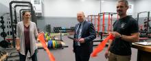 Ribbon cutting of remodeled Olympic College fitness center
